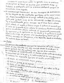Carta 3 guardapartes sobre asalto sanandita