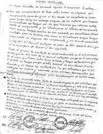 Carta 4 guardapartes sobre asalto sanandita