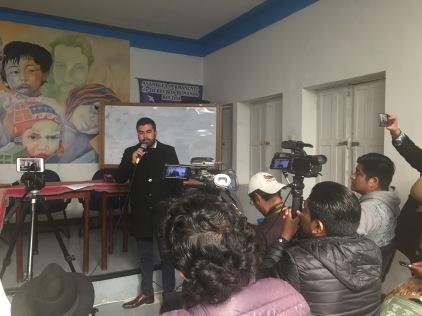 Conferencia prensa La Paz 1